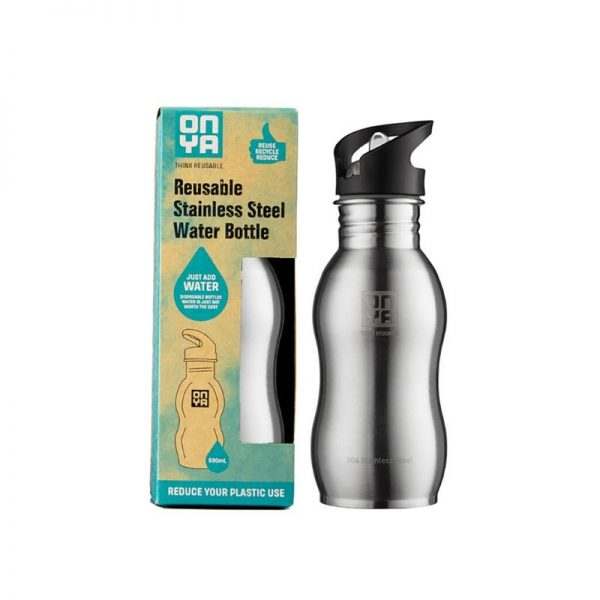 Water Bottle Brushed Steel 500ml