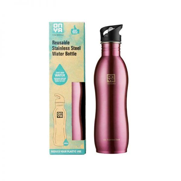 Water Bottle Pink 1000ml
